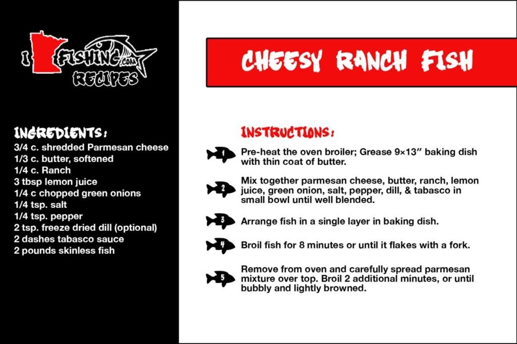 I MN Fishing Cheesy Ranch Fish Recipe