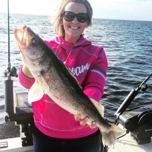 Us ladies can catch nice walleyes too!