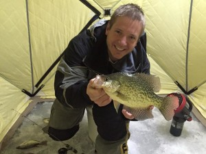 """13.5"""" and the biggest crappie I have pulled out of these backwaters so far"""